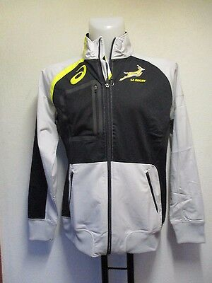 South Africa Rugby Polywrap Grey Track Top By Asics Adults Large Brand New