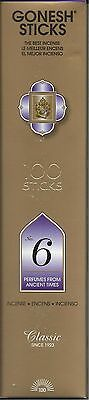 Gonesh Incense Sticks #6 Perfumes From Ancient Times 100C 100 Sticks
