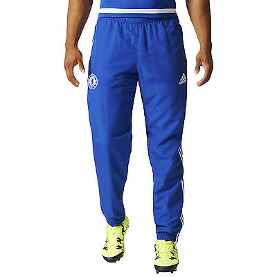 adidas Performance Mens Chelsea FC Football Soccer Training Bottoms Pants - Blue