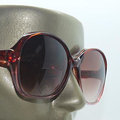 Hollywood Fame Big Wine Red Frame +3.00 Tinted Bifocal Reading Sun Glasses