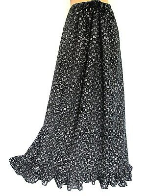Vintage Laura Ashley Country Welsh Daisy Tiered Special Beauty Maxi Skirt 10/12