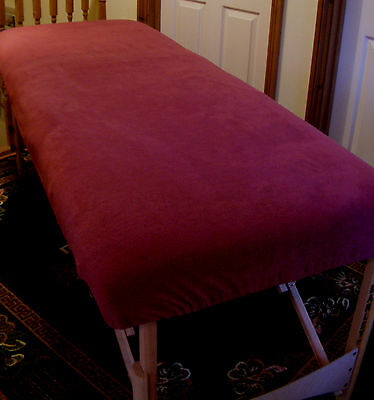 "Massage Table Cover Dark Plum Fleece To Fit 27"" Width"
