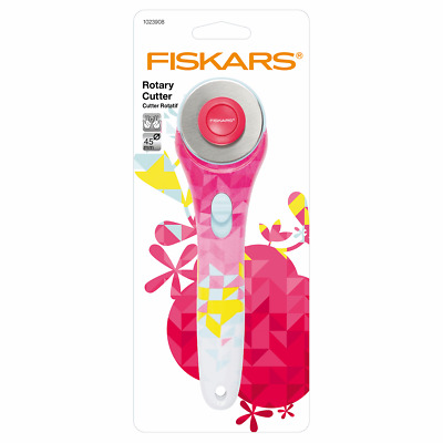 45mm Geometric Multi-coloured Rotary Cutter by Fiskars for Cutting Through Layer
