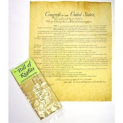 Historic Document Replicas Bill of Rights On Hand Finished Genuine Parchment new
