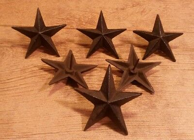 """Cast Iron Star Nail Large 3 1/2"""" Western (Set of Six)  Home Decor 0170S-02110"""