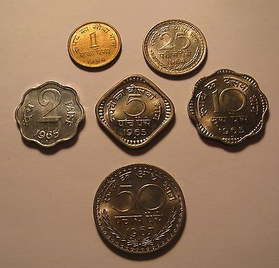 India Different Coins 1964, 1965, 1967 UNC Condition !!!!