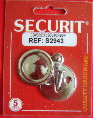 New Chrome On Brass Escutcheon Key Hole Cover S2943