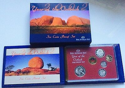 Australia Set 6 coins 2002 Year of the Outback Proof Rare in Official Case Mint