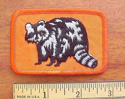 "Vintage Raccoon Embroidered 3"" x 2"" Iron-On Patch"
