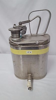Vintage Eagle MFG. Co No 1301 Stainless Steal One Gallon Safety Can