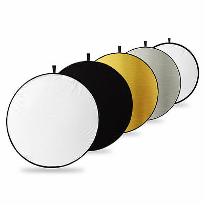 """New 43""""/110cm 5-in-1 Photo Studio Multi-Disc Collapsible Light Reflector"""