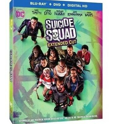 Suicide Squad(Blu-Ray+Dvd+Digital Hd)Extended Cut Brand New