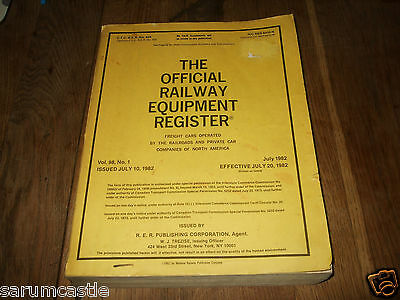 Official Railway Equipment Register. Freight Cars North America July 1982