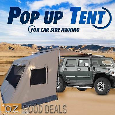 2.5M x 2M Heavy Duty Waterproof Pop Up Standalone Camping Tent For Car Awning