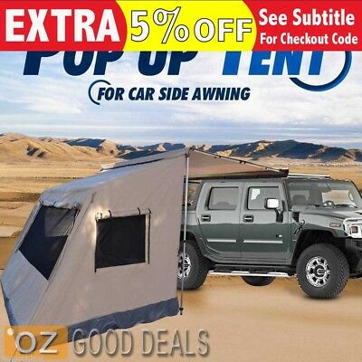 2M x 2M Heavy Duty Waterproof Pop Up Standalone Camping Tent For Car Awning