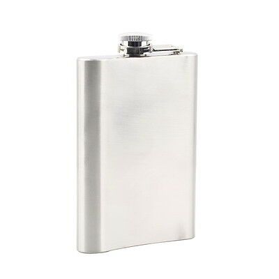 8oz Stainless Steel Liquor Hip Pocket Flask for Alcohol Whiskey Whisky AUO