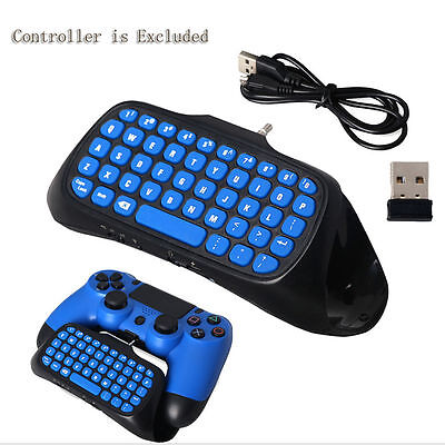 New Wireless Bluetooth Chatpad Keyboard Remote Controller for Sony PS4/PS4 Slim