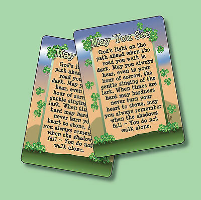 """May You See God's Light"" - Irish Blessing - 2 Verse Cards - SKU# 738"