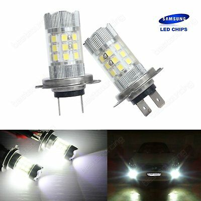 2x H7 499 Samsung LED 30W Projector SideLight Fog Front Driving Light Lamps DRL