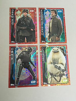 Star Wars - Rogue One (TOPPS collector cards) 4 x Rainbow Foil Insert Cards Lot
