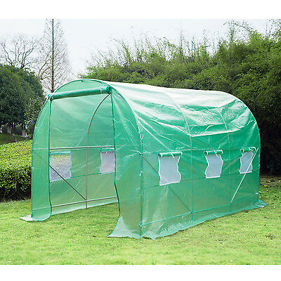 Large 12'×6.6'×6.6' Round Walk-in Tunnel Greenhouse Plant Shed Garden Portable