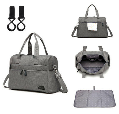 Unisex Large Multi-function Messenger Tote Baby Nappy Changing Bag+Changing Pad