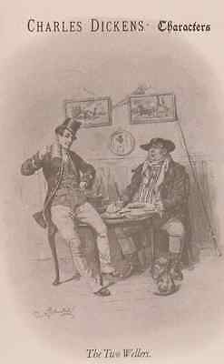 The Two Wellers Charles Dickens Vintage Collectors Postcard