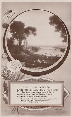The Glory Song Songcard Poetry Christian River Real Photo Postcard