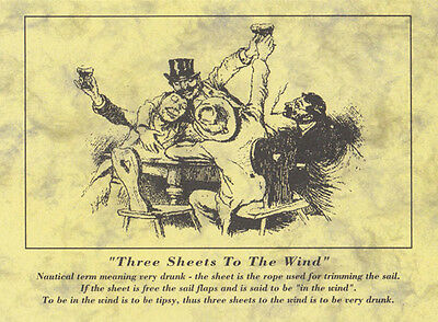 Drunk Sail Three Sheets To The Wind Postcard