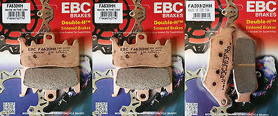 Full Set EBC Sintered Brake Pads - BMW R1200GS 13-16 (2x FA630HH + 1x FA209/2HH)