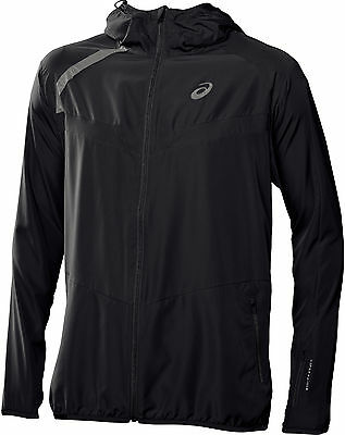 Asics Windbreaker Mens Running Jacket - Black