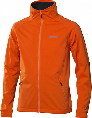 Asics Soft Shell Mens Running Jacket - Orange