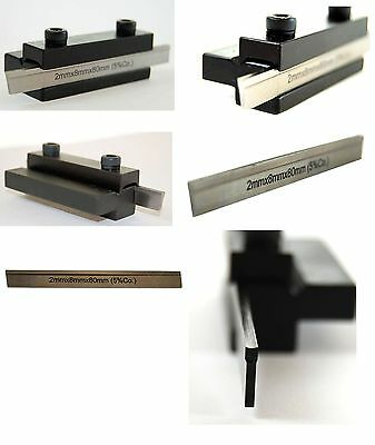 5/16 Sq Shank Clamp Type Parting Tool with 80 mm M-35 HSS Chipbreaker Blade
