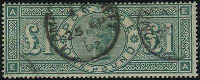 SG 212 Jubilee £1 green (E-A), fine used example with CDS's, excellent colour, C