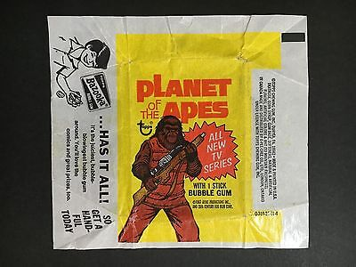 Planet Of The Apes Topps Trading Card Wrapper