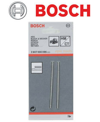 Genuine BOSCH 82mm Reversible TCT Planer Blades/Knives Set (1 x Pair) 2607000096