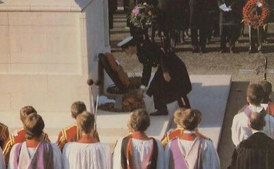 Prince Charles Lays A Wreath At The Cenotaph Wedding Royal Postcard