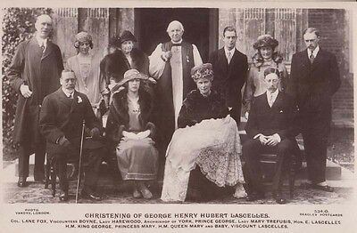 Royal Christening Of George Hubert Lascelles Beagles Real Royalty Photo Postcard