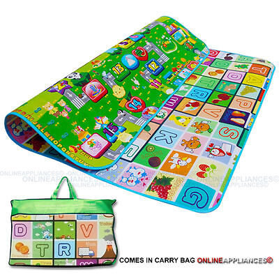 Play Mat Rug Baby Toddler Children Kid Double Sided Foam Paded W/ Case Kid New