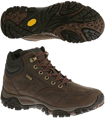 Merrell Moab Rover Mid Waterproof Mens Walking Boots - Brown