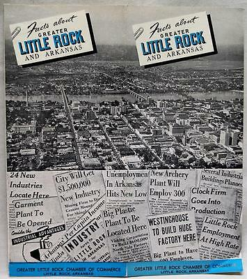 Facts About Little Rock Arkansas Souvenir Brochure Guide 1948 Vintage Travel