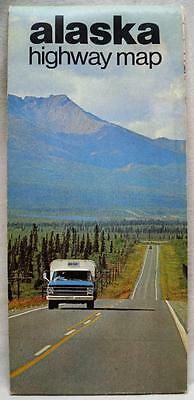 State Of Alaska Official Highway Road Map 1970 Vintage Travel Tourism