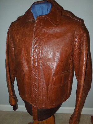 WWII Perry Sportswear Size 40 Leather A-2 AAF Jacket USAAF Air Force