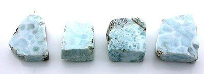 98.6 Grams Four Natural Larimar Slice Slab Cab Cabochon Gemstone Gem Rough LS6