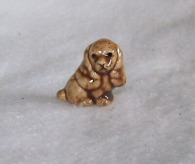 Vintage Miniature Pottery Cocker Spaniel Puppy Dog