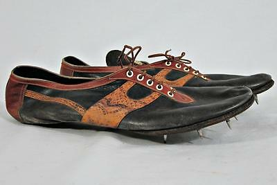 VINTAGE 1940s G T LAW SPRINTER SPIKES TRACK SHOES RUNNING SHOES Roger Bannister