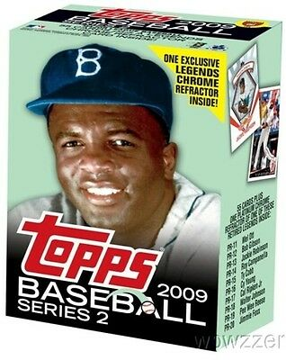 2009 Topps 2 Baseball JACKIE ROBINSON CEREAL Factory Sealed Box+CHROME REFRACTOR