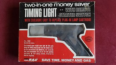 RAC Two-in-One Timing Light With Remote Starter Switch # 1503 In Original Box