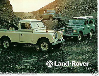 Land Rover 88 109 2 to 12 Seat Station Wagon Truck Cab UK Sales Brochure 1977