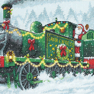 """""""Santa Express Counted Cross Stitch Kit-10""""""""X10"""""""" 14 Count"""""""